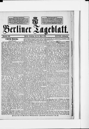 Berliner Tageblatt und Handels-Zeitung vom 30.04.1899