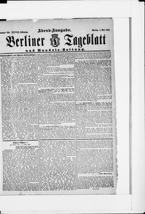 Berliner Tageblatt und Handels-Zeitung vom 01.05.1899