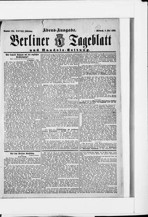 Berliner Tageblatt und Handels-Zeitung vom 03.05.1899