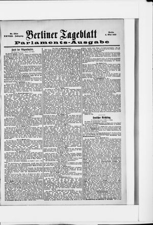Berliner Tageblatt und Handels-Zeitung on May 4, 1899