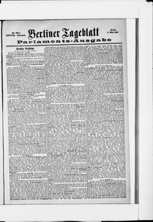 Berliner Tageblatt und Handels-Zeitung vom 05.05.1899