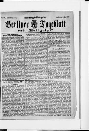 Berliner Tageblatt und Handels-Zeitung vom 08.05.1899