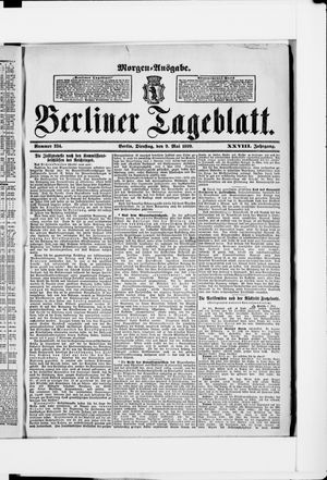 Berliner Tageblatt und Handels-Zeitung vom 09.05.1899