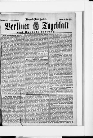 Berliner Tageblatt und Handels-Zeitung vom 12.05.1899