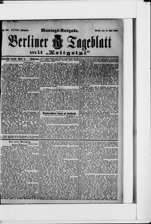 Berliner Tageblatt und Handels-Zeitung vom 15.05.1899