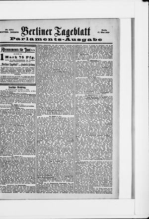 Berliner Tageblatt und Handels-Zeitung vom 17.05.1899