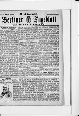 Berliner Tageblatt und Handels-Zeitung vom 18.05.1899