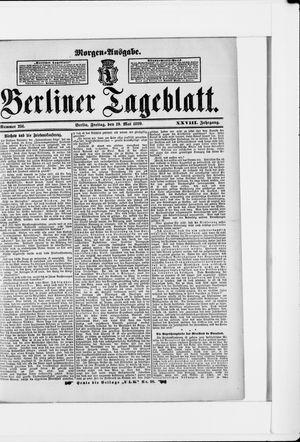 Berliner Tageblatt und Handels-Zeitung vom 19.05.1899