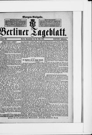 Berliner Tageblatt und Handels-Zeitung vom 20.05.1899