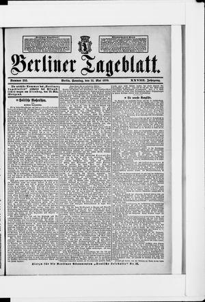 Berliner Tageblatt und Handels-Zeitung vom 21.05.1899