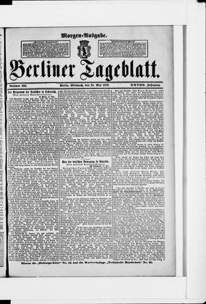 Berliner Tageblatt und Handels-Zeitung vom 24.05.1899