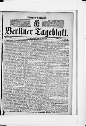 Berliner Tageblatt und Handels-Zeitung vom 25.05.1899