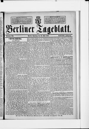 Berliner Tageblatt und Handels-Zeitung vom 28.05.1899