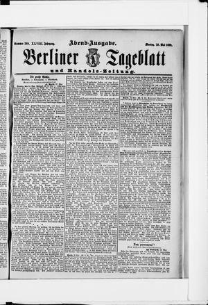 Berliner Tageblatt und Handels-Zeitung vom 29.05.1899