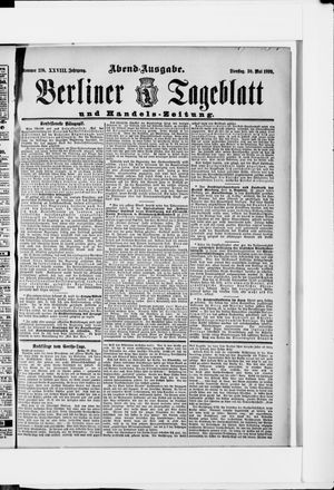 Berliner Tageblatt und Handels-Zeitung on May 30, 1899