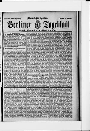 Berliner Tageblatt und Handels-Zeitung vom 31.05.1899