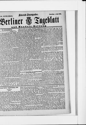 Berliner Tageblatt und Handels-Zeitung vom 01.06.1899
