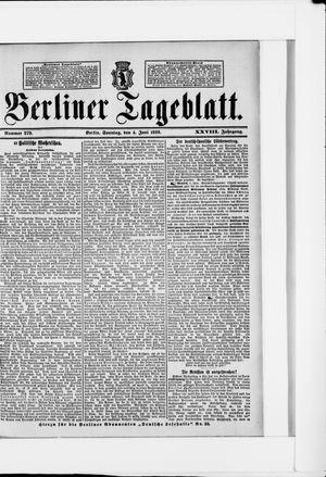 Berliner Tageblatt und Handels-Zeitung vom 04.06.1899