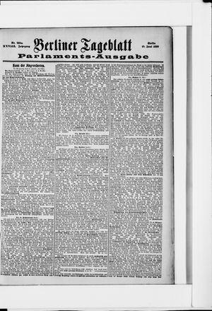 Berliner Tageblatt und Handels-Zeitung vom 10.06.1899
