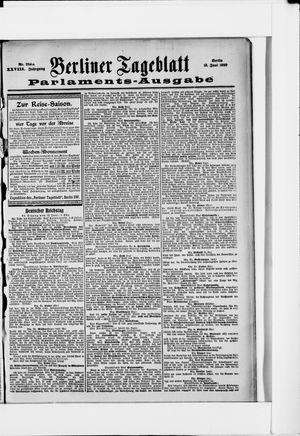 Berliner Tageblatt und Handels-Zeitung vom 13.06.1899