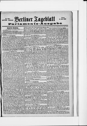 Berliner Tageblatt und Handels-Zeitung vom 14.06.1899