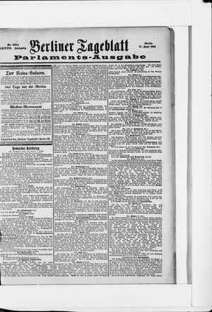 Berliner Tageblatt und Handels-Zeitung vom 15.06.1899