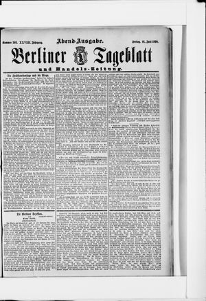 Berliner Tageblatt und Handels-Zeitung vom 16.06.1899