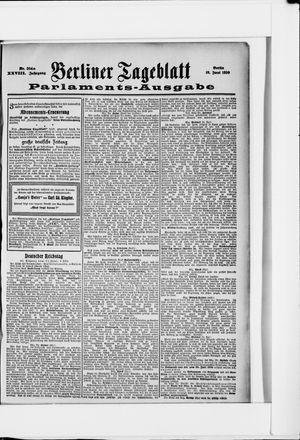 Berliner Tageblatt und Handels-Zeitung vom 18.06.1899