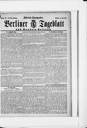 Berliner Tageblatt und Handels-Zeitung vom 19.06.1899