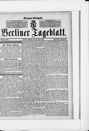 Berliner Tageblatt und Handels-Zeitung vom 20.06.1899