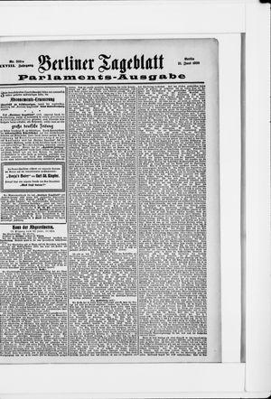 Berliner Tageblatt und Handels-Zeitung vom 21.06.1899