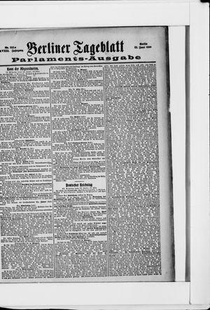 Berliner Tageblatt und Handels-Zeitung vom 22.06.1899