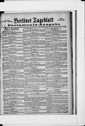 Berliner Tageblatt und Handels-Zeitung vom 23.06.1899