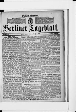Berliner Tageblatt und Handels-Zeitung vom 24.06.1899
