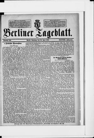 Berliner Tageblatt und Handels-Zeitung vom 25.06.1899