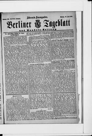 Berliner Tageblatt und Handels-Zeitung vom 26.06.1899