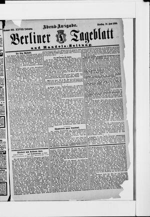Berliner Tageblatt und Handels-Zeitung vom 27.06.1899