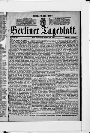 Berliner Tageblatt und Handels-Zeitung vom 29.06.1899