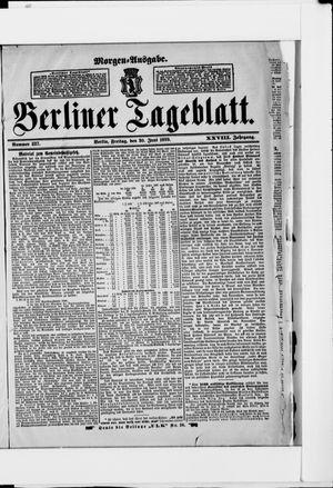 Berliner Tageblatt und Handels-Zeitung vom 30.06.1899
