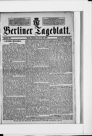 Berliner Tageblatt und Handels-Zeitung vom 02.07.1899