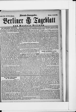 Berliner Tageblatt und Handels-Zeitung vom 03.07.1899