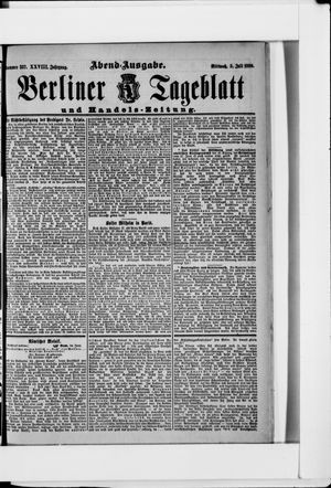 Berliner Tageblatt und Handels-Zeitung vom 05.07.1899