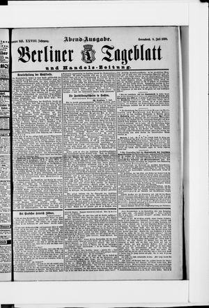 Berliner Tageblatt und Handels-Zeitung vom 08.07.1899