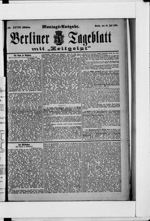 Berliner Tageblatt und Handels-Zeitung vom 10.07.1899
