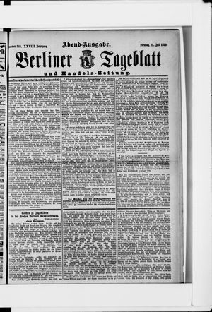 Berliner Tageblatt und Handels-Zeitung vom 11.07.1899