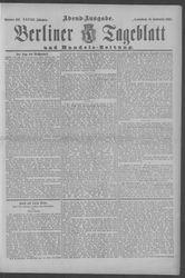 Berliner Tageblatt und Handels-Zeitung (16.09.1899)