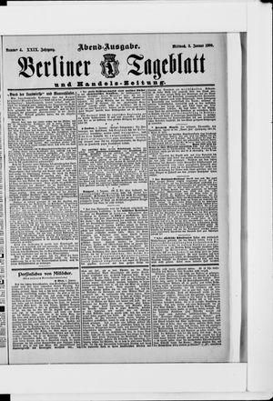 Berliner Tageblatt und Handels-Zeitung vom 03.01.1900