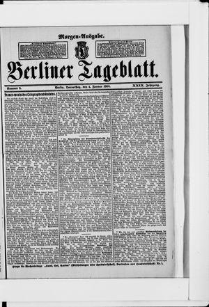 Berliner Tageblatt und Handels-Zeitung vom 04.01.1900