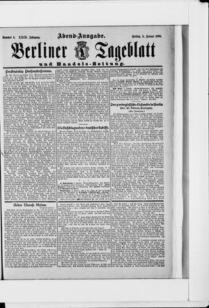 Berliner Tageblatt und Handels-Zeitung vom 05.01.1900
