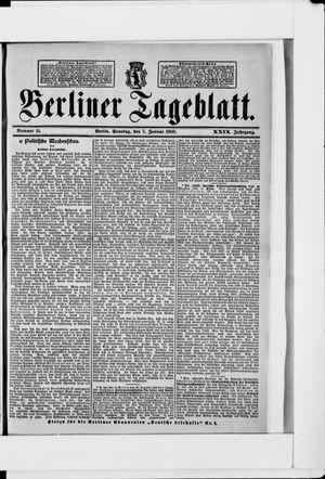Berliner Tageblatt und Handels-Zeitung vom 07.01.1900